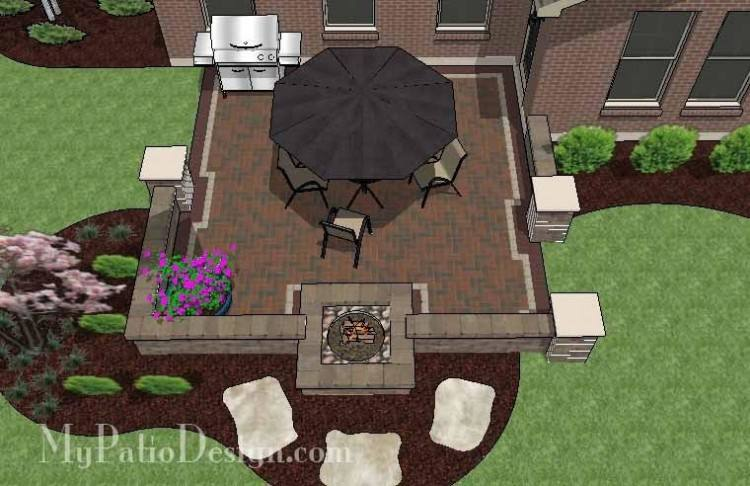 Outdoor Great Room Gas Fire Pit Table