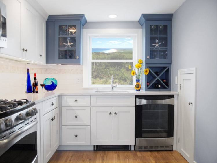 kitchen cabinets with windows
