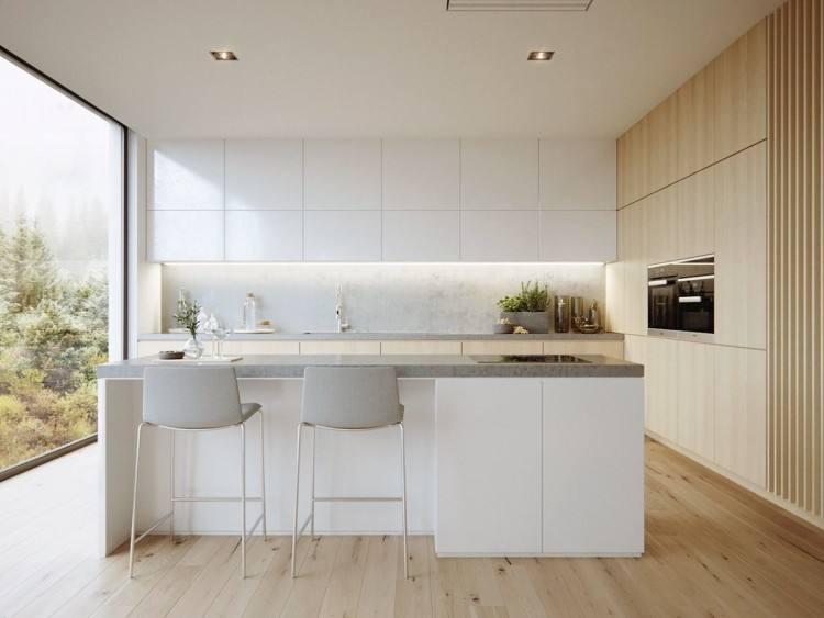 small square kitchen designs