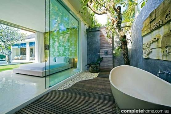 Here are some examples of outdoor showers that have been installed Australia