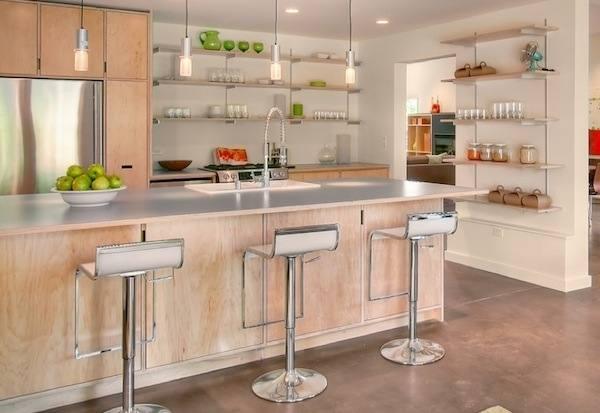 diy open shelving kitchen