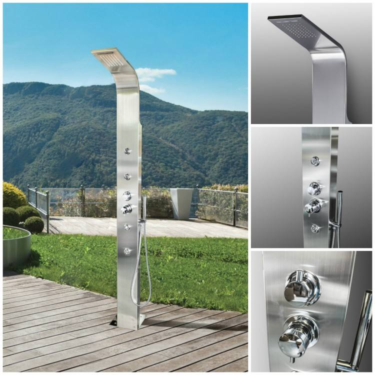 Brighton Stainless Steel Outdoor Shower