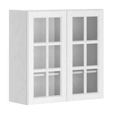 Wall Kitchen Cabinet with Glass Doors in