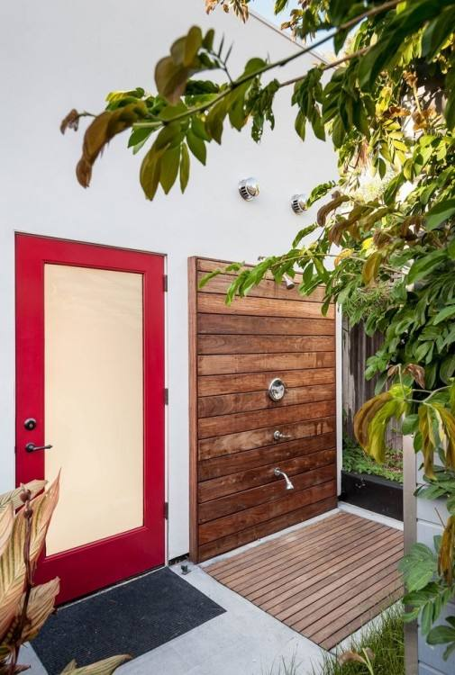 image result for simple outdoor shower