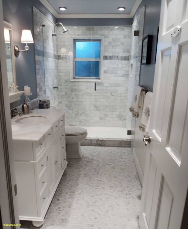 Petite powder rooms and smaller bathrooms present a unique design challenge: how do you max out on style