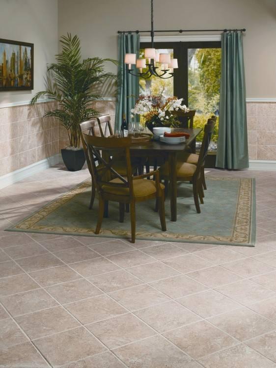 tile flooring ideas for dining room