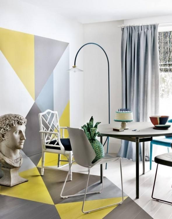 Grey Yellow Dining Room Ideas