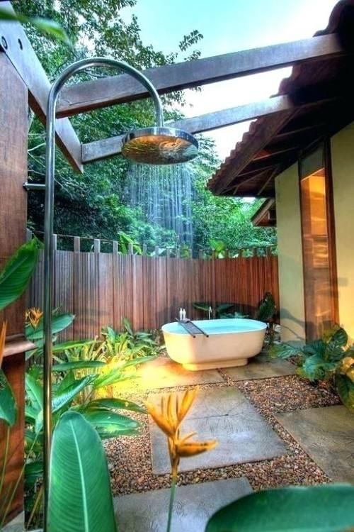 how to build outdoor showers