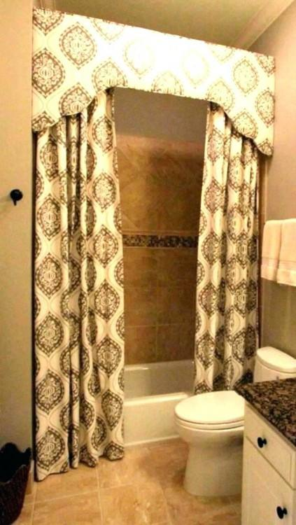 Marvelous Bathroom Decoration Ideas Using Bathroom Shower Curtain With Valance : Appealing Bathroom Decoration Ideas Using