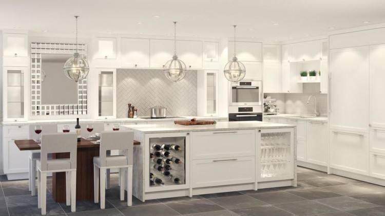 Wood Cabinets Kitchen Solid Brick
