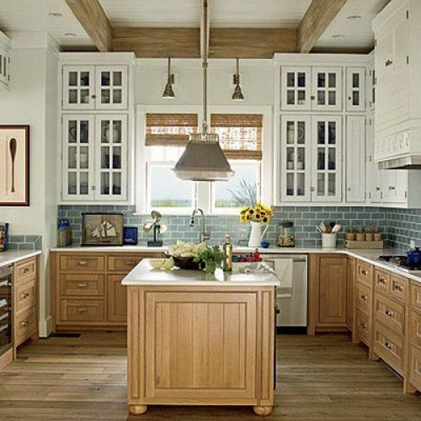 Ideas Two Tone Kitchen Cabinets · •
